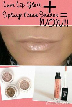 Love that Younique's products are so versatile! Our new Splurge cream eye shadow paired with our Lucrative Lip Gloss in Luxe creates a beautiful look to pucker up to. Get yours here. www.youniquelychris.com