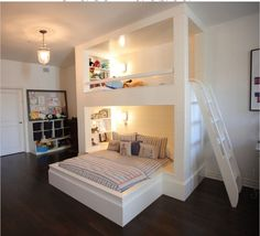 """Excellent """"modern bunk beds for girls room"""" info is offered on our site. Read more and you wont be sorry you did. Bunk Beds With Stairs, Cool Bunk Beds, Girls Bunk Beds, Kid Beds, Bunk Beds For Adults, Adult Bunk Beds, Spare Bed, Modern Bunk Beds, Modern Loft"""