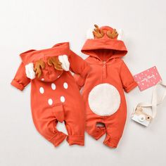 Baby Christmas Deer Jumpsuit * Bottom snap * Soft and comfy * Material: Cotton, Polyester * Machine wash, tumble dry * Imported Cute Baby Girl Outfits, Toddler Boy Outfits, Baby Outfits Newborn, Toddler Boys, Kids Outfits, Baby Girls, Cute Christmas Outfits, Christmas Baby, Unisex Baby Clothes