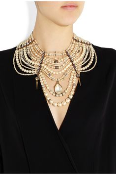 Erickson Beamon | Girly Queen gold-plated Swarovski pearl and crystal necklace | NET-A-PORTER.COM
