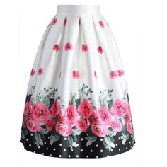 Dotted with Roses Midi Skirt - New Arrivals - Retro, Indie and Unique Fashion Led Dress, Dress Skirt, Dress Up, Modest Fashion, Unique Fashion, Womens Fashion, Fashion Fashion, Fashion Brand, Trendy Fashion