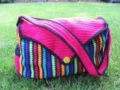 Crochet baby diaper bag or messanger bag - PATTERN Diaper Bag Patterns, Baby Patterns, Crochet Ideas, Crochet Diaper Bag, Crochet Baby, Baby Diaper Bags, Baby Bags, Crochet Cross, Tejidos