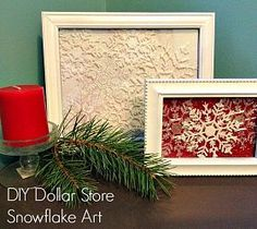 Dollar Store Snowflake Decor