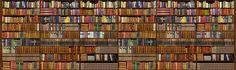 Bookshelf Wallpaper & Wall Mural | Photowall
