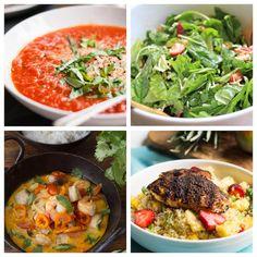 Weekly Meal Plan: lots of healthy dinner ideas