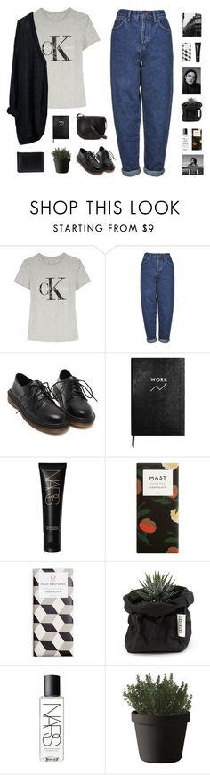 """""""my style"""" by fashionmelka ❤ liked on Polyvore featuring Calvin Klein, MTWTFSS Weekday, Boutique, Loeffler Randall, Sloane Stationery, NARS Cosmetics, Muuto and Comme des Garçons"""