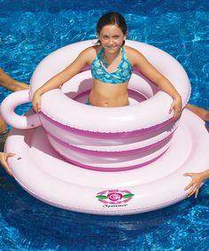 Look at this #zulilyfind! Tea Cup Spinner Float by Swimline #zulilyfinds