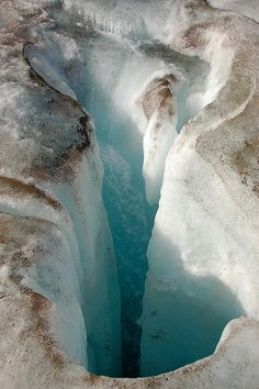 A moulin (vertical shaft) on Gulkana Glacier ~ Southeast Fairbanks County Census Area, Alaska, USA