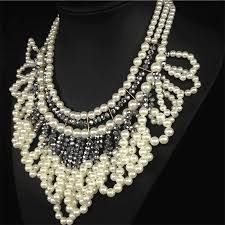 Resultado de imagen para collares de moda con perlas grandes