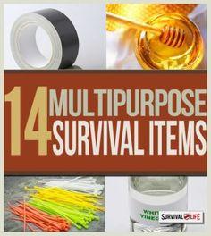 14 Multipurpose Survival Items | Basic survival skills at survivallife.com #survivalskills #survivaltips #offgridsurvival