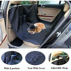 Durable Car Pet Foldable Seat Cover Waterproof Scratchproof Dog Protector Hammock New Varieties Are Introduced One After Another sky-blue