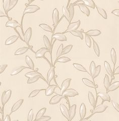 Tintinhull Leaf (PW78002/4) - G P & J Baker Wallpapers - A beautiful leaf trail design in a hand painted effect showing in linen and ivory. Available in 5 colour ways. Please request a sample for a true colour match.