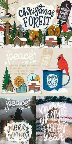 Christmas Forest Collection by Sketchetarian on @creativemarket