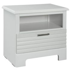Action 1 Drawer Nightstand - White Image