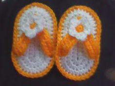 Everything`s Crochet: Crochet Baby flio flops Pattern