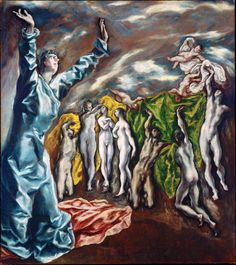 The opening of the Fifth Seal of the Apocalypse El Greco (Domenikos Theotokopoulos)