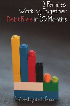 Combined Debt Payoff, 3 Families, $60K, Going for Debt Free | The New Lighter Life - interesting concept! Debt Payoff Tips, #Debt Debt Free Stories #debt Debt Payoff