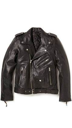 Essential black leather jacket by BLK DNM