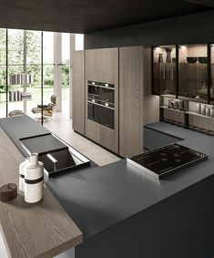 Barn Kitchen, Modern Kitchen Cabinets, Kitchen Cabinet Design, Modern Kitchens, Luxury Kitchen Design, Interior Design Kitchen, Küchen Design, House Design, Latest Kitchen Designs