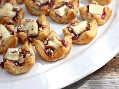 Baked Brie Bites with Cherries and Pecans