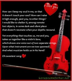 Love song- Rainier Maria Rilke  |   Love Poems for Her- love sing on a Red violin