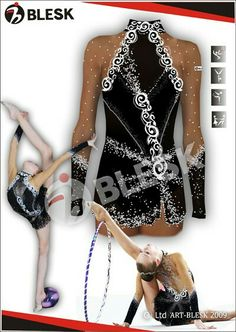 Tutina nera per ginnastica artistica/ritmica