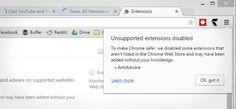 Soon, All Versions of Chrome Will Block Non-Web-Store Extensions