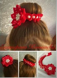 """12 Pc 2 1//2/""""X1 1//2/"""" Red//White Grosgrain Ribbon Bow with1/"""" Red//Gold Star"""