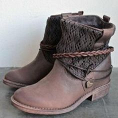 Women's Shoes PU Winter Spring, Fall, Winter, Summer Comfort Novelty Fashion Boots Bootie Boots Round Toe Booties/Ankle Boots for Dress 2018 - Flat Boots Outfit, Dress With Boots, Anna Wintour, Winter Fashion Boots, Fashion Shoes, Fashion Dresses, Chloe, Calvin Klein, Cheap Womens Shoes