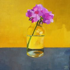 ARTFINDER: PINK GERANIUM by Jane  Kell - I admire the work of Euan Uglow and this simple still-life is inspired by his work.
