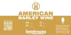American Barelywine Homebrew Label