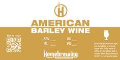 American Barelywine Homebrew Label