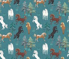 Arabian horses! fabric by koko_bun on Spoonflower - custom fabric Arabian Horses, Custom Fabric, Spoonflower, Fabric Design, Craft Projects, Moose Art, Fabrics, Colorful, Quilts