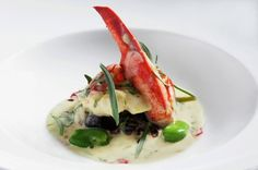 Featured food pairing: Kurt Gutenbrunner of KG-NY's Lobster with Cherry´s, Fava Beans and Sauce Béarnaise paired with Alois Gross 2006 Ratscher Morillon Nussberg Charcuterie, Bearnaise Sauce, Lobster Dinner, Lobster Recipes, Fava Beans, Valentines Day Dinner, Serious Eats, International Recipes, Food Preparation