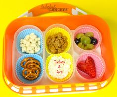 Ladybug Lunches, Turkey and Rice Lunch, Creative Lunch Ideas