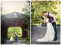 Covered bridge for our photo shoot after the wedding ceremony... had to take a photo for our Thank You cards!