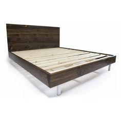 Platform Bed Frame and Headboard Set With Metal Legs Modern Bed Frame... ($1) ❤ liked on Polyvore featuring home, furniture, beds, bedroom furniture, beds & headboards, home & living, red, king bed platform, queen headboard and cal king bed