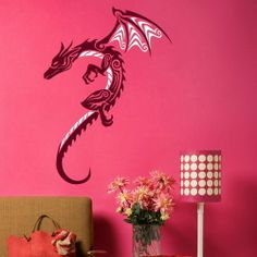 Chinese Dragon Large Wall Mural Decor Decal Giant Stencil Vinyl Mural CH1 | eBay