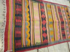 Buglem / Handwoven Vintage Turkish Kilim Rug,Afyon region, 70 years old,-40x64,8 inch