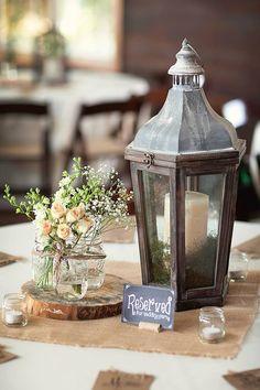 Jeff + Kim - Table Centerpiece - Rustic Wedding