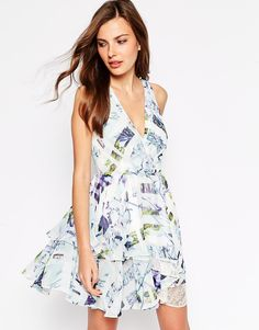 BCBGeneration Dress in Aquashell Print