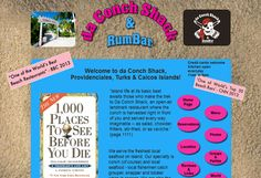 Fresh conch fished from the shallows is just one of the alluring features of the little shack which has become an institution on the shores of the Turks and Caicos. The Turk, Beach Bars, Turks And Caicos, Small Island, Conch, Island Life, Caribbean, Fresh, Vacation
