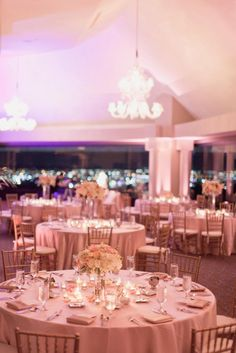 Skyline Room At La Cima Club In Las Colinas Blush And Gold Photo By
