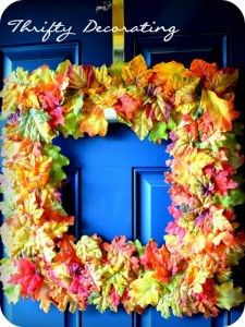 Fall wreath.... SQUARE wreath!