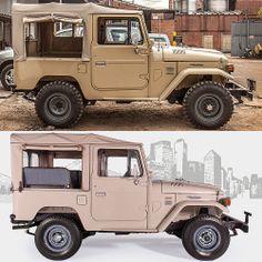 Before and after #fjco1980beige #toyota #landcruiser #fj40 #fjrestoration #fjcompany