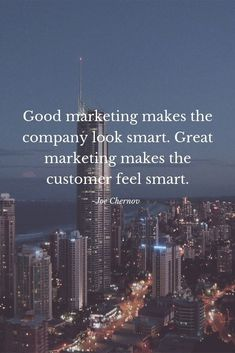 Good marketing makes the company look smart. Great marketing makes the customer feel smart. Digital Marketing Quotes, Digital Marketing Strategy, Social Media Marketing, Marketing Strategies, Marketing Ideas, Small Business Marketing, Marketing And Advertising, Mobile Marketing, Business Motivation