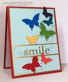 Happy Day Rainbow Butterflies - Stampin' Up! - Stamp With Amy K