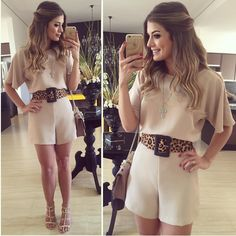 macaquinho em crepe básico Girly Outfits, Cool Outfits, Casual Outfits, Nice Dresses, Short Dresses, Effortless Chic, Classy Dress, I Love Fashion, Casual Chic