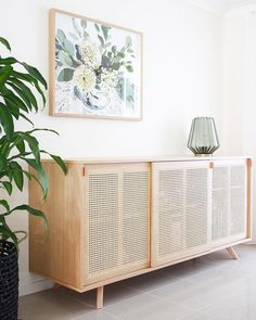 rattan bedside table IKEA hack - New ideas Rattan Furniture, Home Furniture, Furniture Design, Bedroom Furniture, Modern Furniture, Easy Home Decor, Cheap Home Decor, Home Living Room, Living Room Decor
