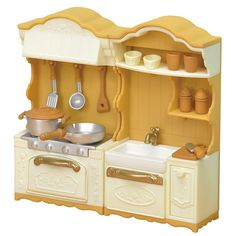 JP Sylvanian Families KA-420 Upgraded Kitchen Stoves and Sink Set 2017 Pre Order #Epoch